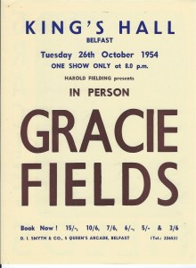 Belfast, King's Hall 26th Oct 1954