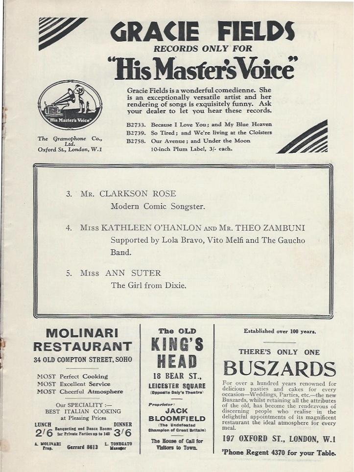 Palladium programme sep 10th 1928-3
