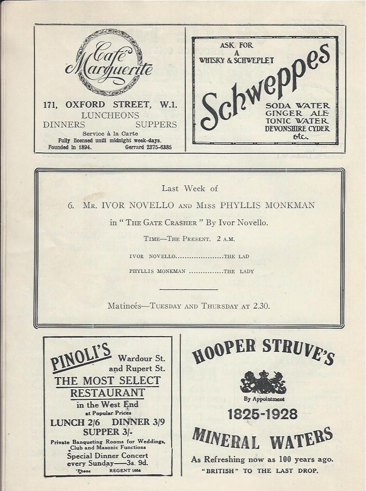Palladium programme sep 10th 1928-4