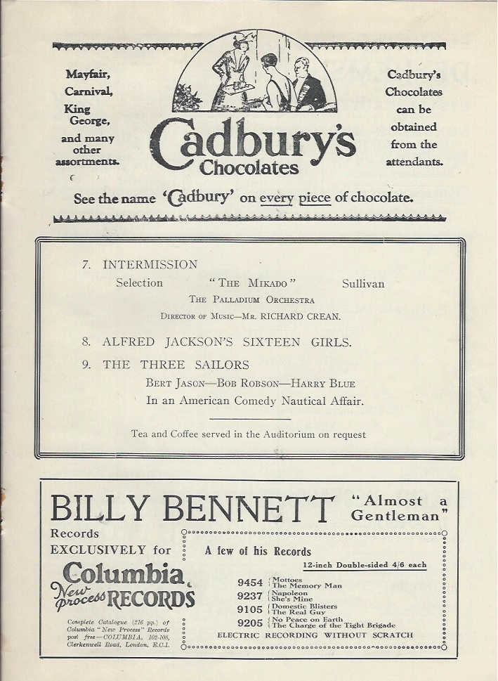 Palladium programme sep 10th 1928-5