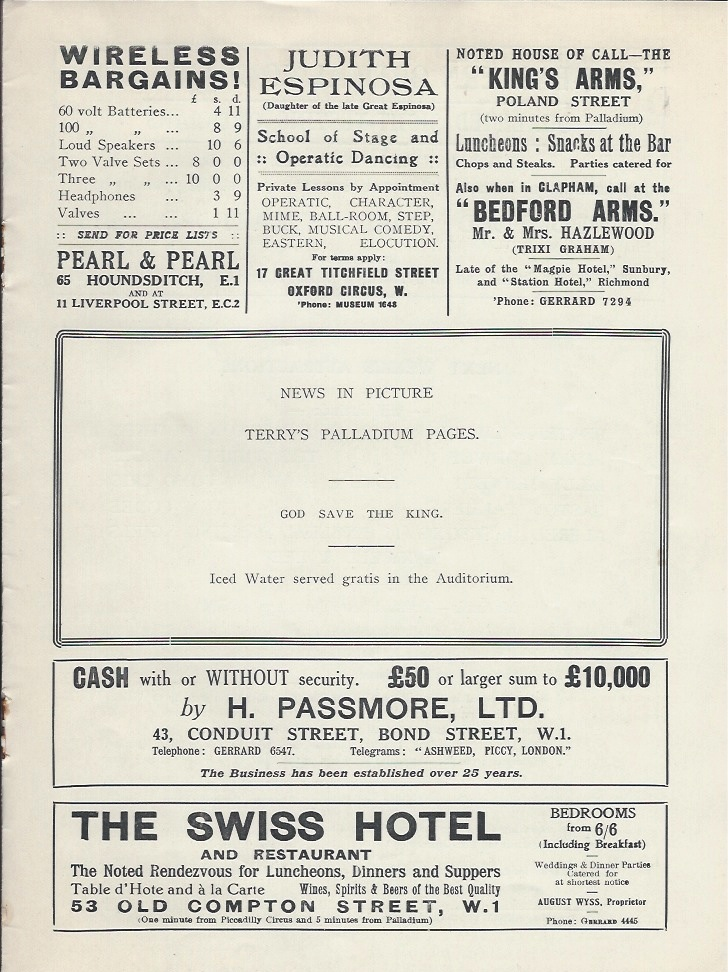 Palladium programme sep 10th 1928-7