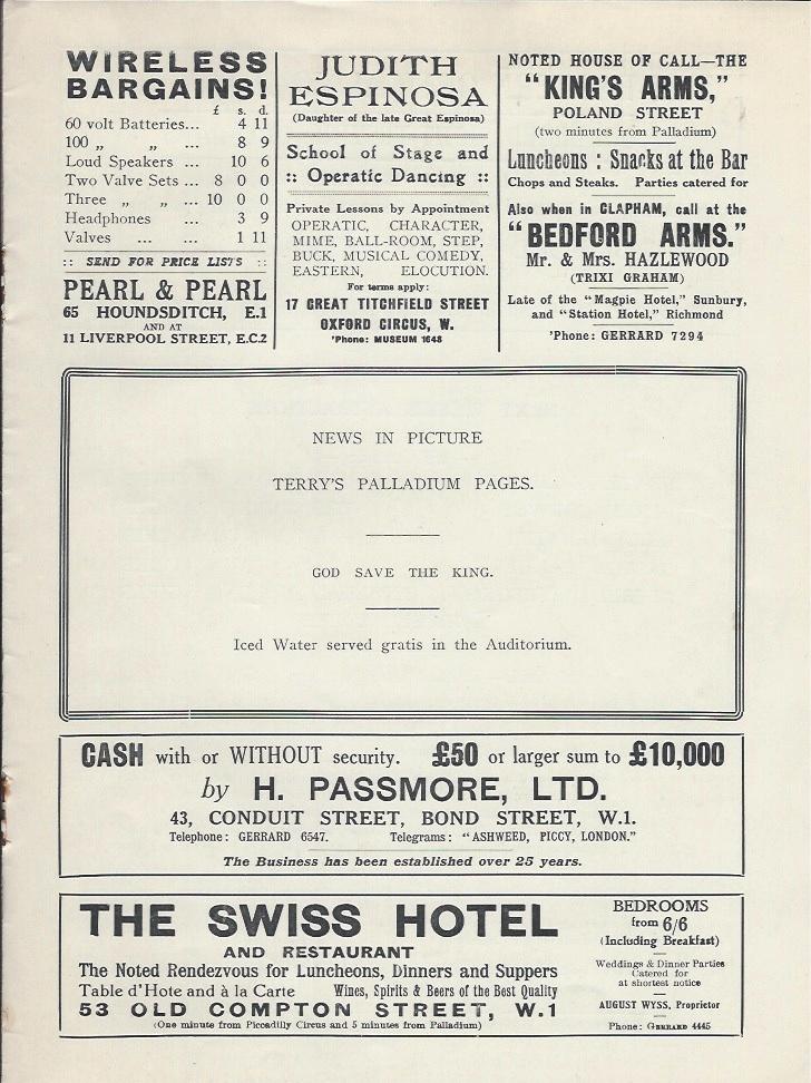 Palladium programme sep 10th 1928-7