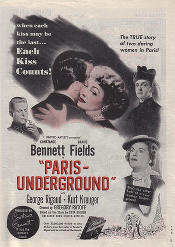 Paris Underground magazine advert