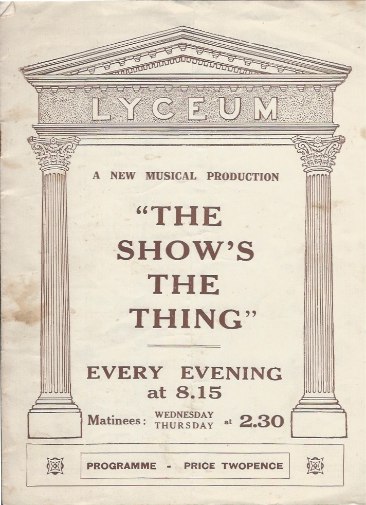 'The Show's The Thing' programme