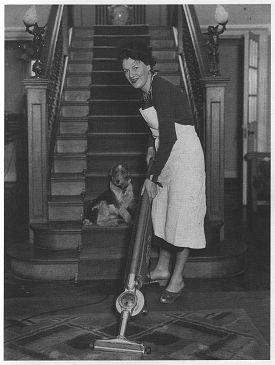 Gracie doing her housework