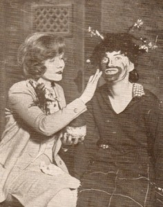 Vivian Duncan making up Gracie