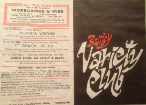 This was no ordinary club. Just look at the other acts advertised