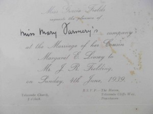 Margaret's wedding invite