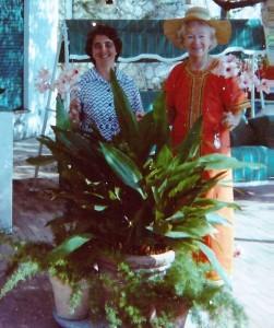 Anne, Gracie and the biggest aspidistra in Capri