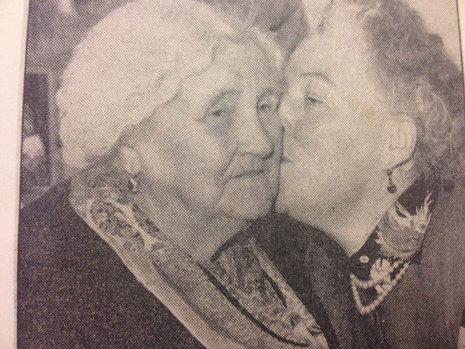 Gracie was in Birmingham and Madame Haley, aged 88, couldn't get a ticket to the show, so Gracie called in to see her. She died the next month.