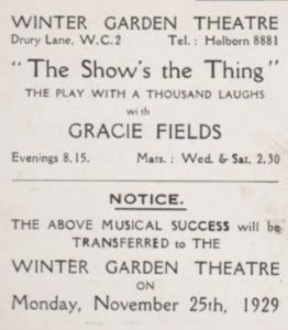 'The Show's The Thing' flier b copy