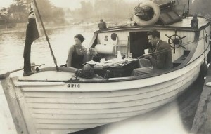 Nino's & Babs on Tommy's boat 'Grig' - Kingston upon Thames With thanks to Mervyn Rossini