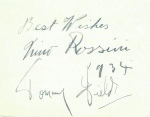Tommy - Nino autograph