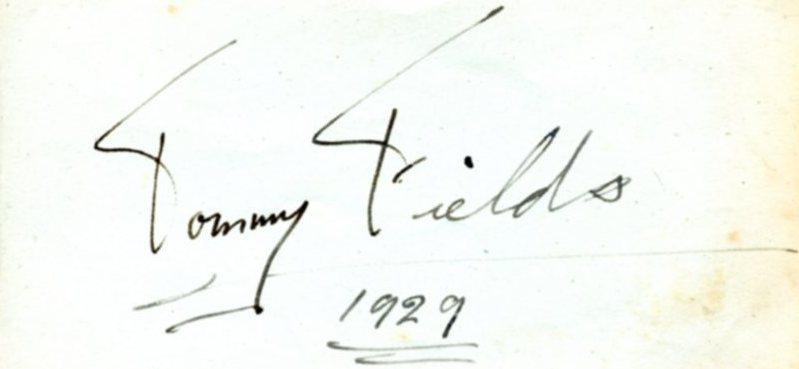Autograph 1929