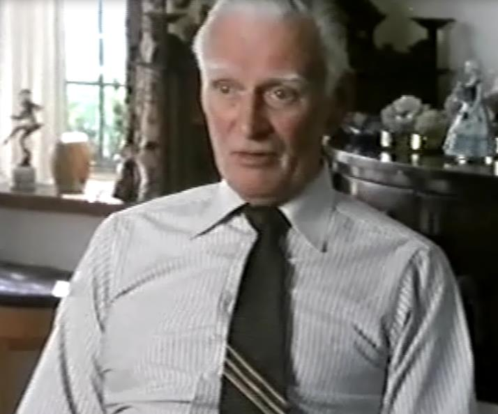 Tommy in later life in a television documentary about Gracie