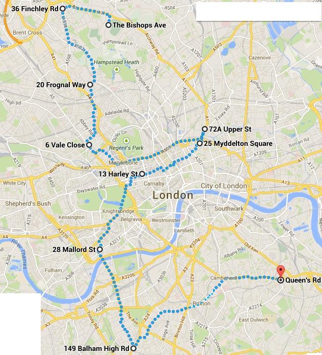 London Homes walk plan