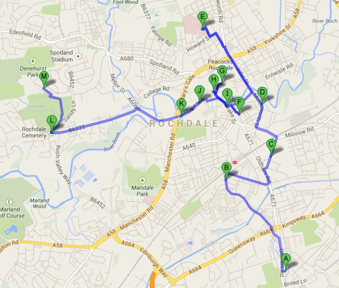 Rochdale walking map
